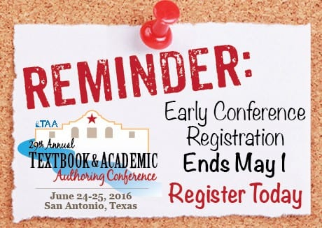 TAA's conference early registration ends May 1