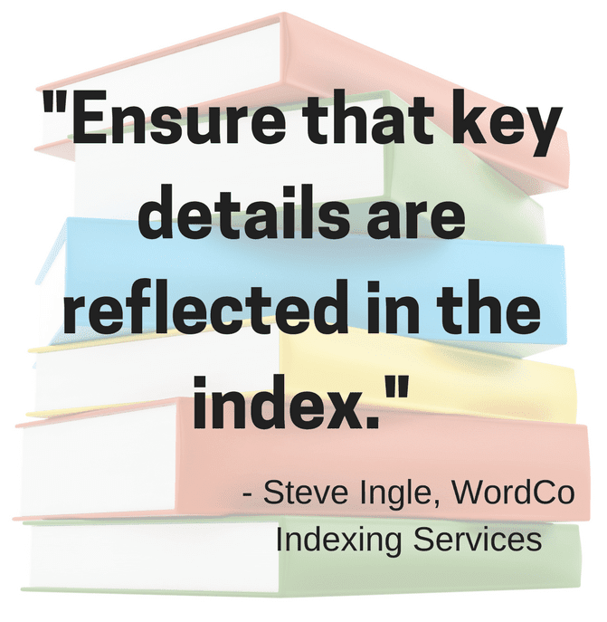 Ensure that key details are reflected in the index