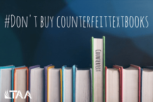 Don't buy counterfeit textbooks