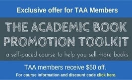 Get 50% off The Academic Book Promotion Toolkit