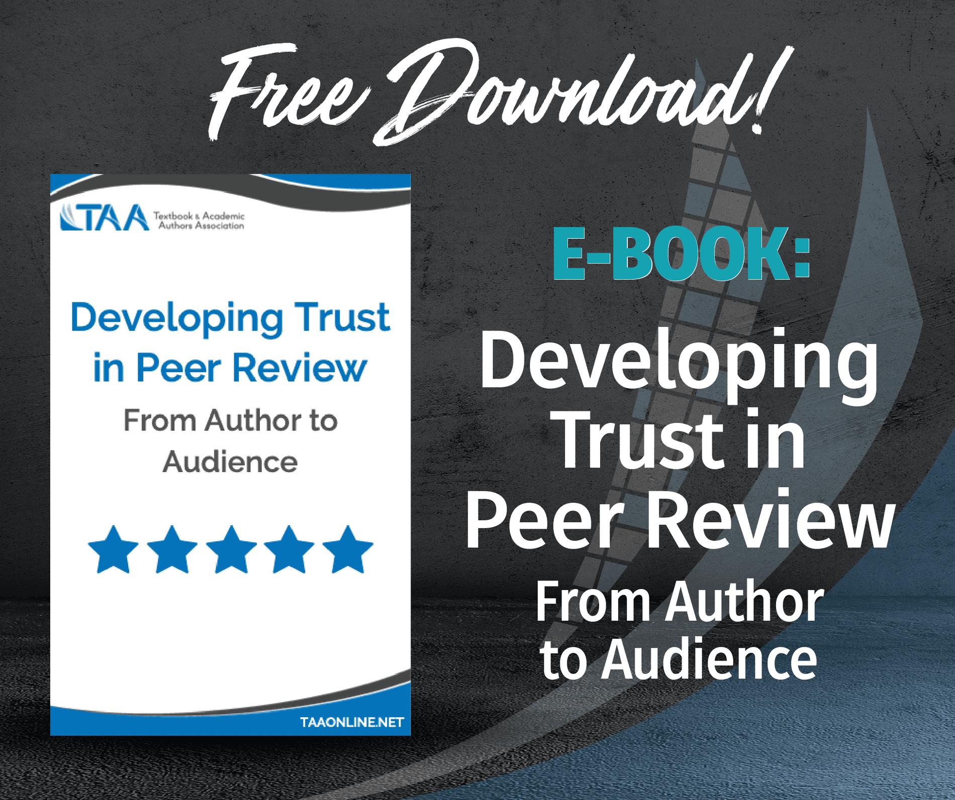 Trust in Peer Review ebook
