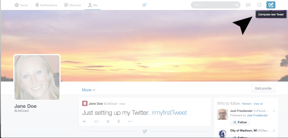 Composing a Tweet