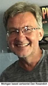 Cartoonist Dan Rosandich