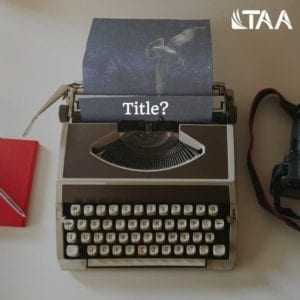 Writing a title